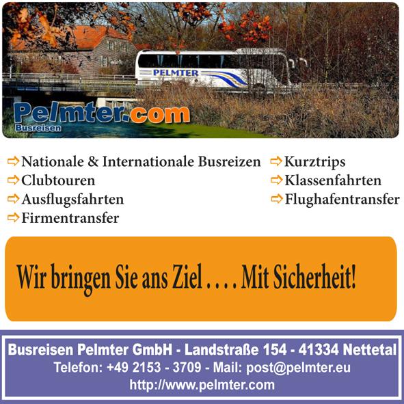 Pelmter bus reizen Duitsland